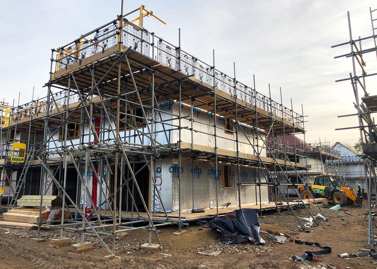 01-Timber Frame Scaffolding - Manston Road, Ramsgate